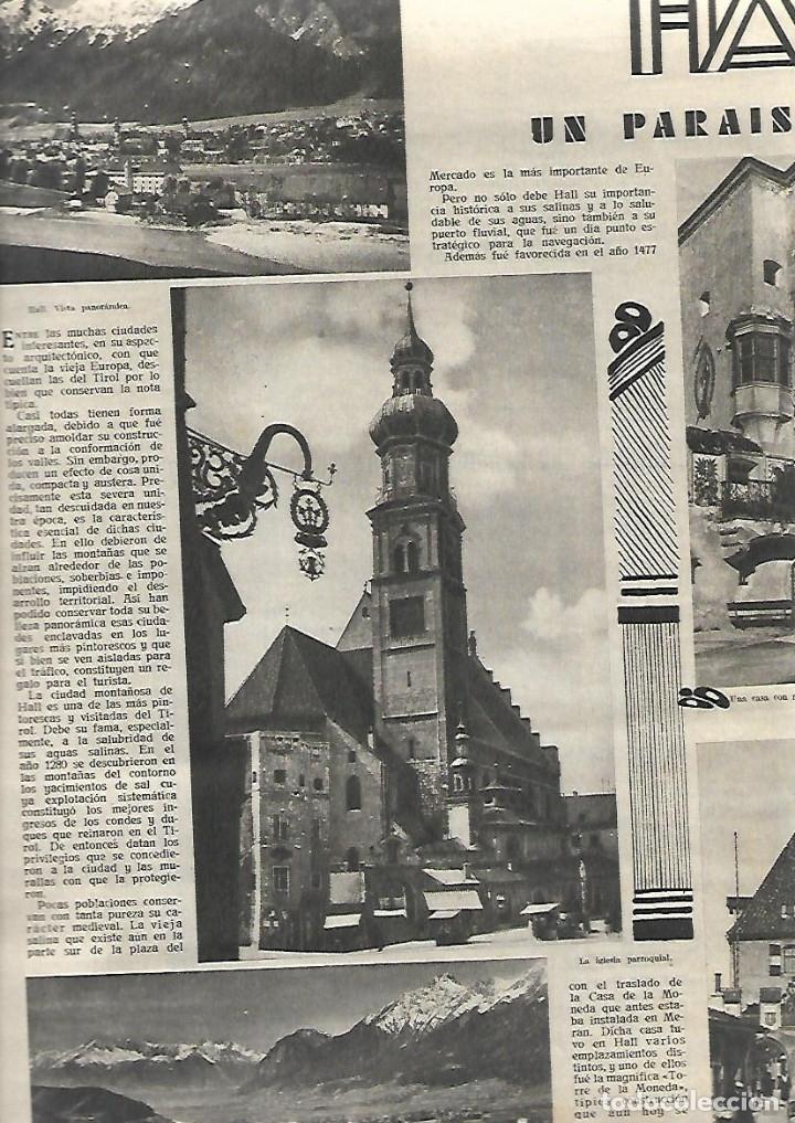 Coleccionismo de Revistas y Periódicos: AÑO 1933 MARIPOSAS VALLE DEL BAZTAN NAVARRA ESCUELA ENFERMERIA PERLAS ARTIFICIALES HALL TIROL - Foto 3 - 10121952