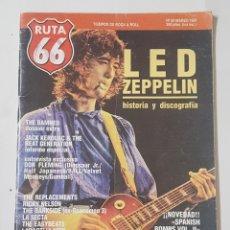 Coleccionismo de Revistas y Periódicos: REVISTA RUTA 66. Nº 60.MARZO 1991. LED ZEPPELIN. HISTORIA Y DISCOGRAFIA. TDKR62. Lote 177115130