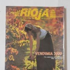 Coleccionismo de Revistas y Periódicos: REVISTA LA PRENSA EL RIOJA. Nº124.OCTU-NOVI 2000. VENDIMIA 2000. TDKR62. Lote 177115767