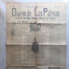 Coleccionismo de Revistas y Periódicos: S.M.EL REY ALFONSO XIII EN LAS PALMAS.DIARIO DE LAS PALMAS.31 DE MARZO DE 1906.. Lote 177194114