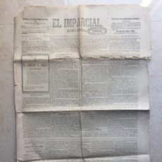 Coleccionismo de Revistas y Periódicos: EL IMPARCIA. DIARIO LIBERAL.JUEVES 27 DE SEP.DE 1877.. Lote 177194743