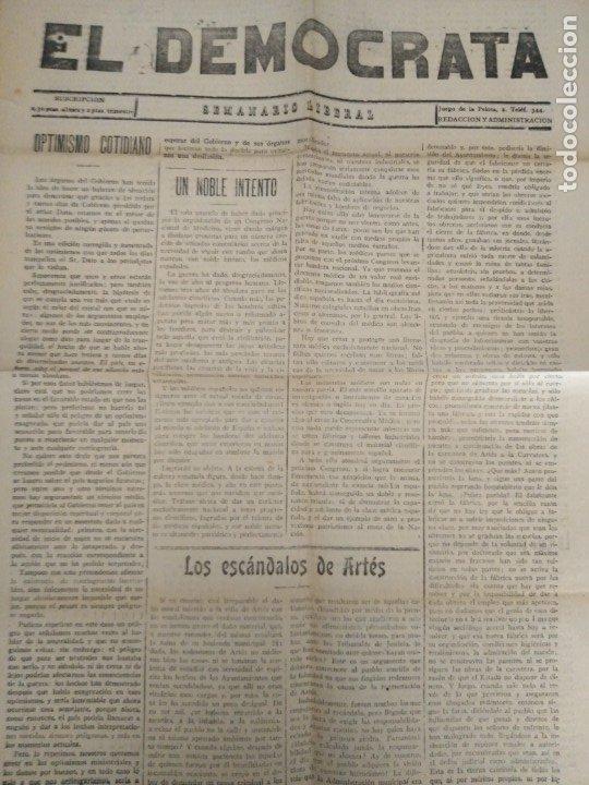 MANRESA EL DEMOCRATA SEMANARIO LIBERAL N 537 1917 MANRESA (Coleccionismo - Revistas y Periódicos Antiguos (hasta 1.939))
