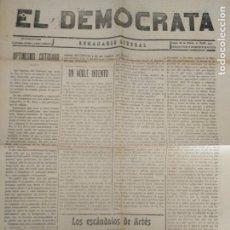 Coleccionismo de Revistas y Periódicos: MANRESA EL DEMOCRATA SEMANARIO LIBERAL N 537 1917 MANRESA. Lote 177288554