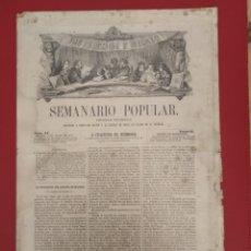 Coleccionismo de Revistas y Periódicos: SEMANARIO POPULAR INSTRUCCION Y RECREO 1863 PERIODICO PINTORESCO. Lote 177289485
