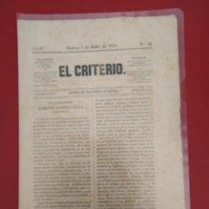 Coleccionismo de Revistas y Periódicos: EL CRITERIO N 54 1870 REVISTA DE VILLANUEVA Y GELTRU. Lote 177289599