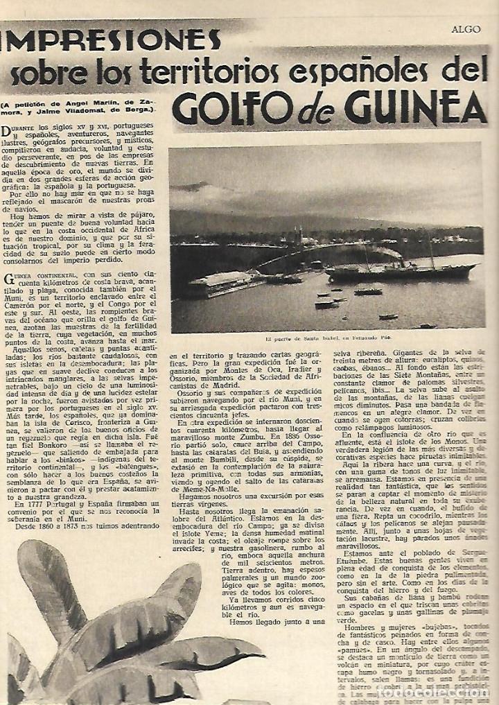 Coleccionismo de Revistas y Periódicos: AÑO 1934 ALELLA EL OBSERVATORIO FABRA HUELVA NIEBLA GOLFO DE GUINEA ESPAÑOLA BAILE EL ONE STEP - Foto 3 - 10231404
