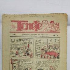 Coleccionismo de Revistas y Periódicos: TONETE, SUPLEMENTO INFANTIL DE INFORMACION, Nº 6, AÑO 1943. Lote 177477640