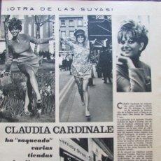 Coleccionismo de Revistas y Periódicos: RECORTE REVISTA SEMANA Nº 1413 1967 CLAUDIA CARDINALE. Lote 177489874