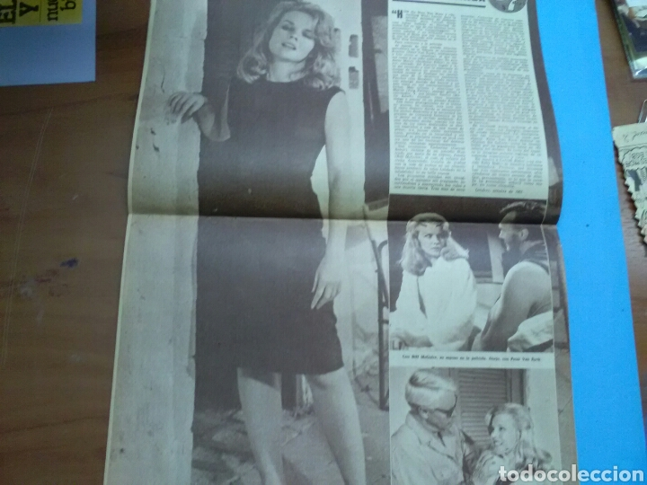 Coleccionismo de Revistas y Periódicos: CINE EN 7 DÍAS N° 130 ( 1963 .AÑO II ) Gina Lollobrigida .Rock Hudson .Carroll Baker, poster centr - Foto 2 - 288001233