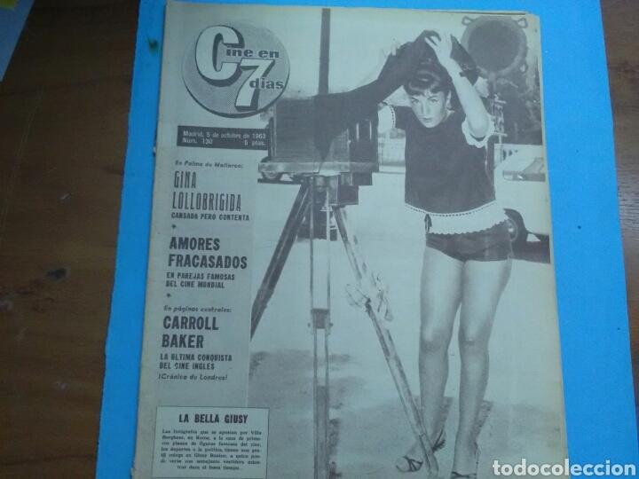Coleccionismo de Revistas y Periódicos: CINE EN 7 DÍAS N° 130 ( 1963 .AÑO II ) Gina Lollobrigida .Rock Hudson .Carroll Baker, poster centr - Foto 3 - 288001233