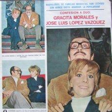 Coleccionismo de Revistas y Periódicos: RECORTE REVISTA SEMANA Nº 1519 1969 GRACITA MORALES Y JOSE LUIS LOPEZ VAZQUEZ 2 PGS. Lote 177547967