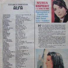 Coleccionismo de Revistas y Periódicos: RECORTE REVISTA SEMANA Nº 1519 1969 NURIA ESPERT. Lote 177548022