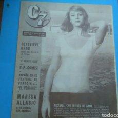 Coleccionismo de Revistas y Periódicos: CINE EN 7 DÍAS N° 125 ( 1963 - AÑO II) STEFANIA SANDRELLI - GEORG CHAKIRIS - PILI Y MILI (PÁG. CENTR. Lote 177605957