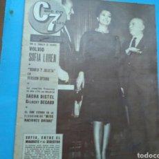 Coleccionismo de Revistas y Periódicos: CINE EN 7DÍAS N° 97 (AÑO II - 1963 ) SOFIA LOREN, PORTADA ,PÁG. INTERIORES Y PÓSTER CENTRAL.SACHA .. Lote 177612944