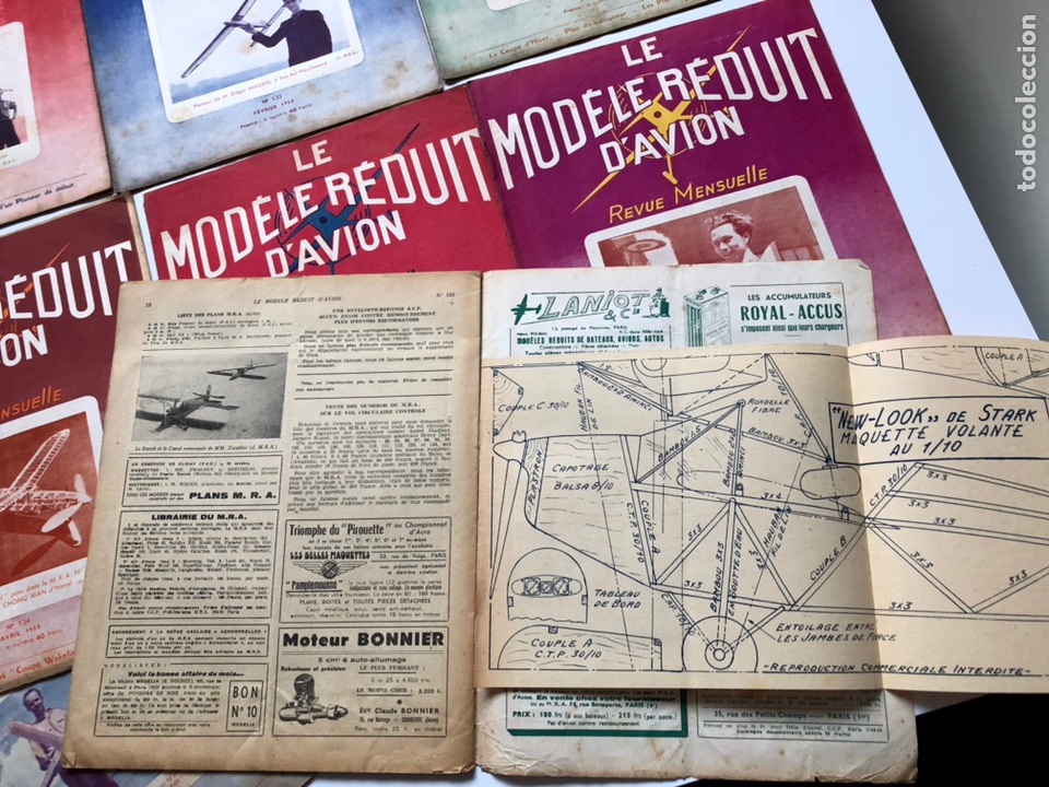 Coleccionismo de Revistas y Periódicos: Le Modèle Réduit d'Avion, 1950 ,aeromodelismo, aviones - Foto 2 - 177668822