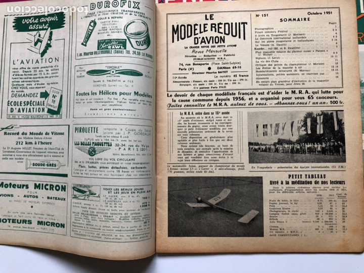 Coleccionismo de Revistas y Periódicos: Le Modèle Réduit d'Avion, 1951 ,aeromodelismo, aviones - Foto 3 - 177669349