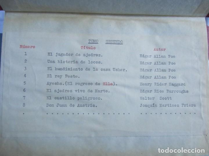 Coleccionismo de Revistas y Periódicos: 46 números de Revista Literaria, Novelas y cuentos 1950-51-52. Encuadernados en 6 tomos - Foto 6 - 177672488