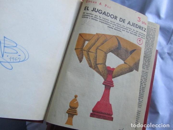 Coleccionismo de Revistas y Periódicos: 46 números de Revista Literaria, Novelas y cuentos 1950-51-52. Encuadernados en 6 tomos - Foto 7 - 177672488