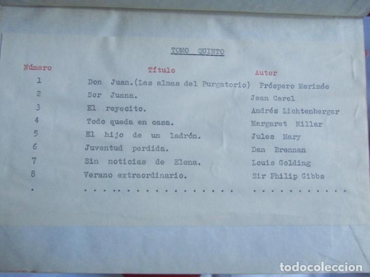 Coleccionismo de Revistas y Periódicos: 46 números de Revista Literaria, Novelas y cuentos 1950-51-52. Encuadernados en 6 tomos - Foto 12 - 177672488