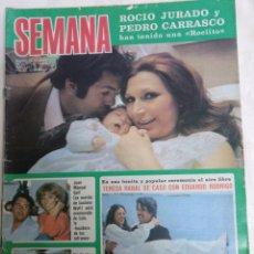 Coleccionismo de Revistas y Periódicos: SEMANA 1943. 14.5.1977 ROCIO JURADO, MIGUEL BOSE. Lote 177751983