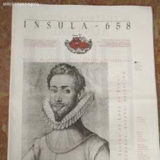 Coleccionismo de Revistas y Periódicos: INSULA 558 REVISTA DE LETRAS Y CIENCIAS HUMANAS 2001 JAVIER APARICIO. Lote 177882777