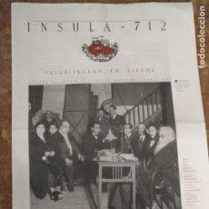 Coleccionismo de Revistas y Periódicos: INSULA 712 REVISTA DE LETRAS Y CIENCIAS HUMANAS 2006 VALLE INCLAN EN ESCENA. Lote 177883114