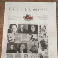 Coleccionismo de Revistas y Periódicos: INSULA 661 662 REVISTA DE LETRAS Y CIENCIAS HUMANAS 2002 - JOSE SARAMAGO . Lote 177951213
