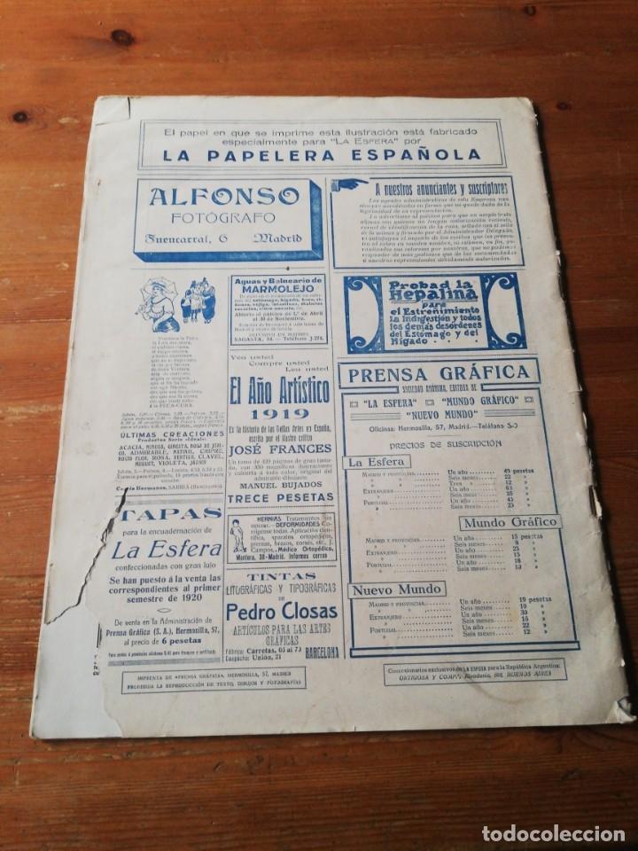 Coleccionismo de Revistas y Periódicos: Revista La Esfera. Número 349. 1920. - Foto 2 - 177979210