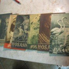 Coleccionismo de Revistas y Periódicos: REVISTA RELIGIOSA HOSANNA - 7 EJEMPLARES - AÑOS 1945-50. Lote 177987217