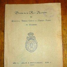 Coleccionismo de Revistas y Periódicos: BOLETÍN DE LA REAL ACADEMIA DE CÓRDOBA… AÑO II ; JULIO A SEPTIEMBRE ; NÚM. 5. Lote 178011698
