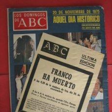 Coleccionismo de Revistas y Periódicos: ABC. FRANCO HA MUERTO. Lote 178058182