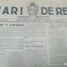 Coleccionismo de Revistas y Periódicos: DIARI DE REUS NUM 137 JUNY 1936. Lote 178081864
