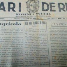 Coleccionismo de Revistas y Periódicos: DIARI DE REUS NUM 155 JULIOL 1936. Lote 178082063
