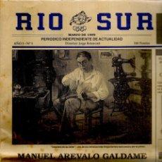 Coleccionismo de Revistas y Periódicos: RIO SUR. PERIÓDICO INDEPENDIENTE DE ACTUALIDAD. Nº 1. MARZO, 1989. (B/57). Lote 178109549