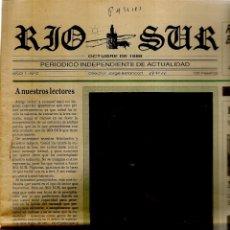 Coleccionismo de Revistas y Periódicos: RIO SUR. PERIÓDICO INDEPENDIENTE DE ACTUALIDAD. Nº 0. OCTUBRE, 1988. (B/57). Lote 178109699