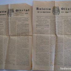 Coleccionismo de Revistas y Periódicos: DOS BOLETIN OFICIAL DE ALICANTE NOVIEMBRE 1939, DIAS FESTIVOS TRASLADO RESTOS DE JOSE ANTONIO. Lote 178135508