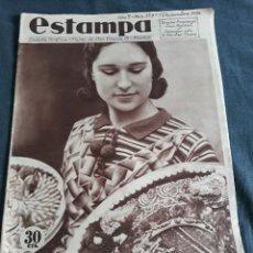 Coleccionismo de Revistas y Periódicos: ESTAMPA Nº 359 - 1 DICIEMBRE DE 1934 - SONSECA (TOLEDO) - BILBAO - BAROJA - MADRID. Lote 178152529
