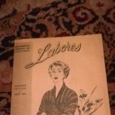 Coleccionismo de Revistas y Periódicos: PATRÓN DE LA REVISTA LABORES DE 1951. Lote 178158067