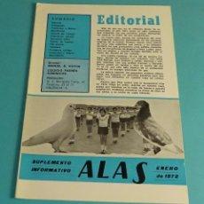 Coleccionismo de Revistas y Periódicos: COLEGIO PADRES DOMINICOS. SUPLEMENTO INFORMATIVO ALAS. ENERO 1972. VALENCIA. Lote 178160144