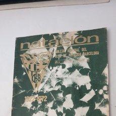 Coleccionismo de Revistas y Periódicos: NATACION . BOLETIN CLUB NATACION BARCELONA - NADAL 1972. Lote 178161702