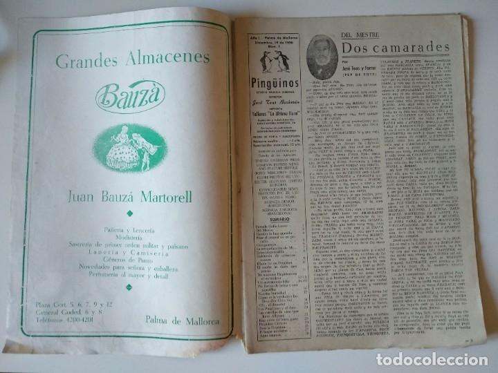 Coleccionismo de Revistas y Periódicos: REVISTA PINGÜINOS Nº1 1956 JOSE TOUS BARBERAN PEP DE TOTS FUNDADOR ULTIMA HORA MALLORCA, UNICA. - Foto 2 - 178169323
