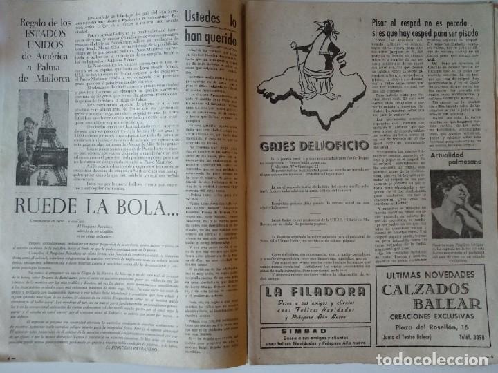 Coleccionismo de Revistas y Periódicos: REVISTA PINGÜINOS Nº1 1956 JOSE TOUS BARBERAN PEP DE TOTS FUNDADOR ULTIMA HORA MALLORCA, UNICA. - Foto 4 - 178169323