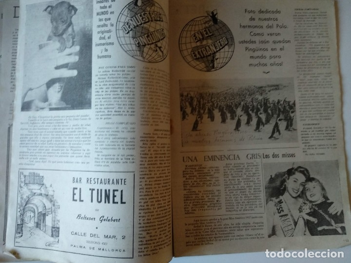 Coleccionismo de Revistas y Periódicos: REVISTA PINGÜINOS Nº1 1956 JOSE TOUS BARBERAN PEP DE TOTS FUNDADOR ULTIMA HORA MALLORCA, UNICA. - Foto 8 - 178169323