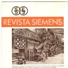 Coleccionismo de Revistas y Periódicos: REVISTA SIEMENS. Nº 1. AÑO IX. 1930. LA ELECTROLISIS INDUSTRIAL DEL CINE. LEER. Lote 178175413