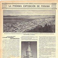 Coleccionismo de Revistas y Periódicos: 1914 HOJA REVISTA PRÓXIMA EXPOSICIÓN INTERNACIONAL DE PANAMÁ EN SAN FRANCISCO CALIFORNIA. Lote 178192427