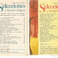 Coleccionismo de Revistas y Periódicos: SELECCIONES DEL READER´S DIGEST. LOTE 7 REVISTAS, AÑO 1977 (VER DESCRIPCIÓN) (P/B7). Lote 178207937