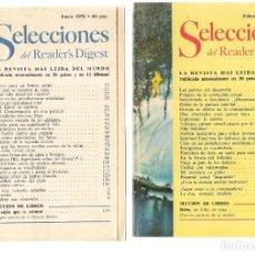 Coleccionismo de Revistas y Periódicos: SELECCIONES DEL READER´S DIGEST. LOTE 4 REVISTAS, AÑO 1976 (VER DESCRIPCIÓN) (P/B7). Lote 178209075