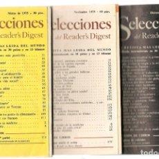 Coleccionismo de Revistas y Periódicos: SELECCIONES DEL READER´S DIGEST. LOTE 5 REVISTAS, AÑOS 1975 / 1981 / 1996. (VER DESCRIPCIÓN) (P/B7). Lote 178210286