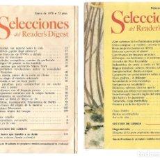 Coleccionismo de Revistas y Periódicos: SELECCIONES DEL READER´S DIGEST. LOTE 6 REVISTAS, AÑO 1978. (VER DESCRIPCIÓN) (P/B7). Lote 178210861