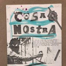 Coleccionismo de Revistas y Periódicos: LA COSA NOSTRA (MADRID 1985). HISTÓRICO FANZINE ORIGINAL LIBERTARIO; ESTUDIANTES COMPLUTENSE. Lote 178215710